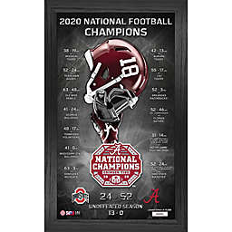 University of Alabama 2020/21 Football National Champions Pano Framed Wall Décor