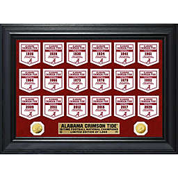 University of Alabama 18-Time National Champions Deluxe Banner Coin Photo Mint