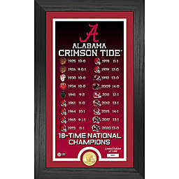University of Alabama National Champions Legacy and Coin Framed Wall Décor
