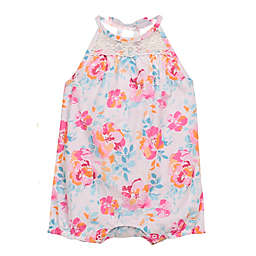 Baby Starters® Floral Halter Bubble Romper in Pink