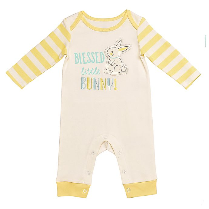 Alternate image 1 for Baby Starters® Size 12M Blessed Bunny Coverall in Yellow