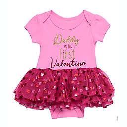 Baby Starters® Size 3M Daddy Valentine Tutu Bodysuit in Pink