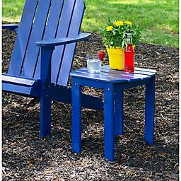 Preston Acacia Wood Adirondack End Table in Blue
