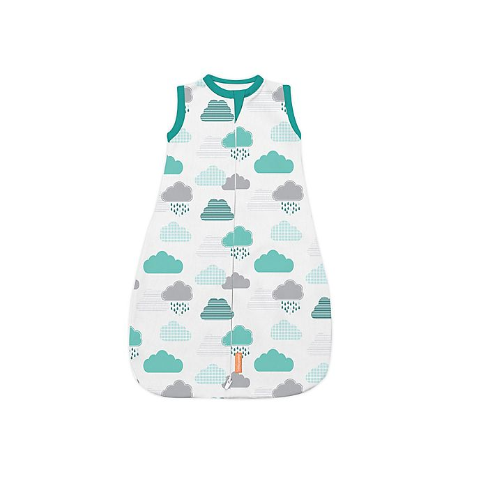 Alternate image 1 for SwaddleMe® Small/Medum In The Clouds Night Sack Sleeper in Blue/White/Grey