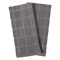 Our Table™ Everyday Solid Kitchen Towels in Grey (Set of 2)