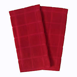 Our Table™ Everyday Solid Kitchen Towels in Red (Set of 2)