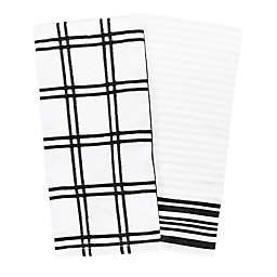 Our Table™ Everyday Plaid and Stripe Kitchen Towels (Set of 2)