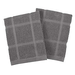 Our Table™ Everyday Solid Dish Cloths in Grey (Set of 2)
