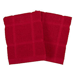 Our Table™ Everyday Solid Dish Cloths in Red (Set of 2)