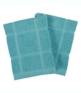 Trapos de cocina our table™ color azul cerceta