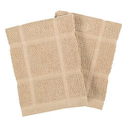 Our Table™ Everyday Solid Dish Cloths in Sand (Set of 2)