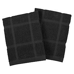 Our Table™ Everyday Solid Dish Cloths in Black (Set of 2)