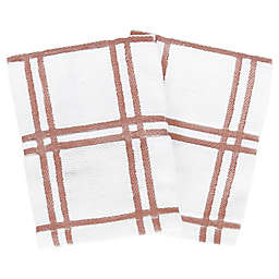 Our Table™ Everyday Plaid Dish Cloths in Rust (Set of 2)