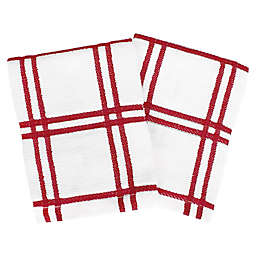 Our Table™ Everyday Plaid Dish Cloths in Red (Set of 2)