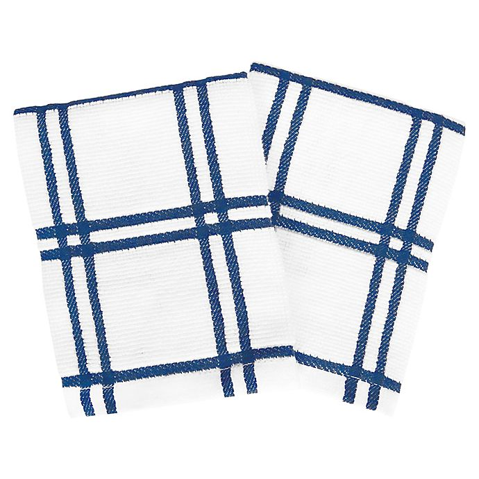 Alternate image 1 for Our Table™ Everyday Plaid Dish Cloths (Set of 2)