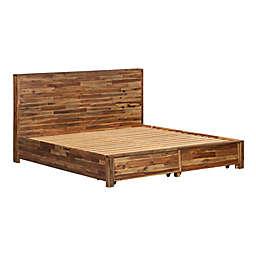 TOV Furniture™ Bushwick Acacia Wood Storage Bed