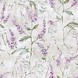 RoomMates® Blue Floral Sprig Peel & Stick Wallpaper in Purple