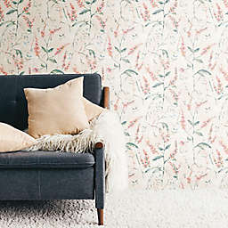 RoomMates® Floral Sprig Peel & Stick Wallpaper in Coral