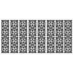 RoomMates® Ornate Tiles Peel & Stick Wall Decals in Black/White