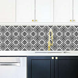 RoomMates® Ornate Black & White Tile Wall Decals