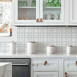 RoomMates® Interlocking Circle Tile Backsplace Wall Decals in Grey/White