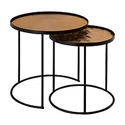 TOV Furniture™ Eve 2-Piece Round Nesting Table Set in Gold/Black