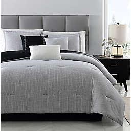 Kenton Jacquard 7-Piece Comforter Set in Black