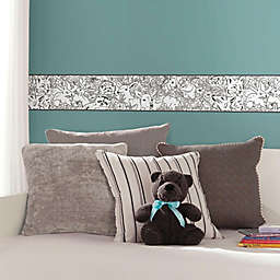 RoomMates® Woodland Sketch Peel & Stick Wallpaper Border in Black/White