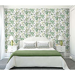 RoomMates® Boho Palm Peel & Stick Wallpaper in Green/Grey