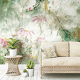 RoomMates® Jungle Lily Mural Peel & Stick Wallpaper in Green/Pink