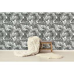 RoomMates® Gingko Leaves Peel & Stick Wallpaper in Black/White