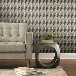 RoomMates® Paragon Geometric Peel & Stick Wallpaper in Brown/Grey