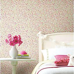 RoomMates® Petite Floral Peel & Stick Wallpaper in Green/Pink