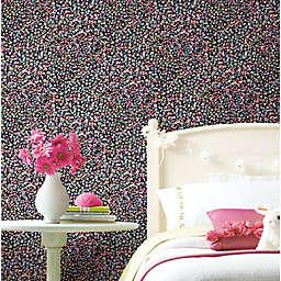 RoomMates® Petite Floral Peel & Stick Wallpaper in Black/Pink