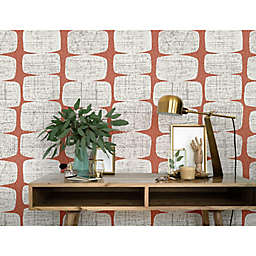 RoomMates® Mid-Century Beads Peel & Stick Wallpaper in Orange/White