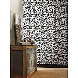 RoomMates® Curly Strokes Peel & Stick Wallpaper in Black/White