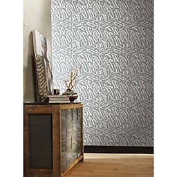 RoomMates® Curly Strokes Peel & Stick Wallpaper in Grey/White