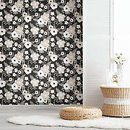 RoomMates® Poppy Floral Peel & Stick Wallpaper in Black/White