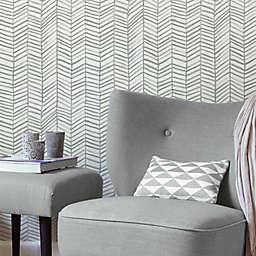 RoomMates® Cat Coquillette Herringbone Peel & Stick Wallpaper in Grey/White