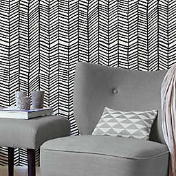 RoomMates® Cat Coquillette Herringbone Peel & Stick Wallpaper in Black/White