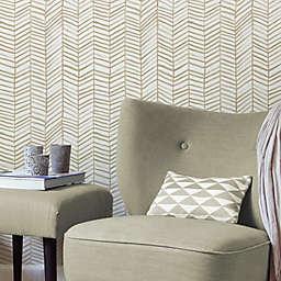 RoomMates® Cat Coquillette Herringbone Peel & Stick Wallpaper in Tan/White