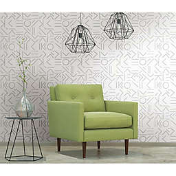 RoomMates® Down The Line Peel & Stick Wallpaper in Grey/White