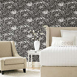 RoomMates® Tropical Eden Peel & Stick Wallpaper in Black/White
