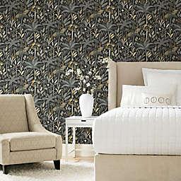 RoomMates® Tropical Eden Peel & Stick Wallpaper in Grey/Black
