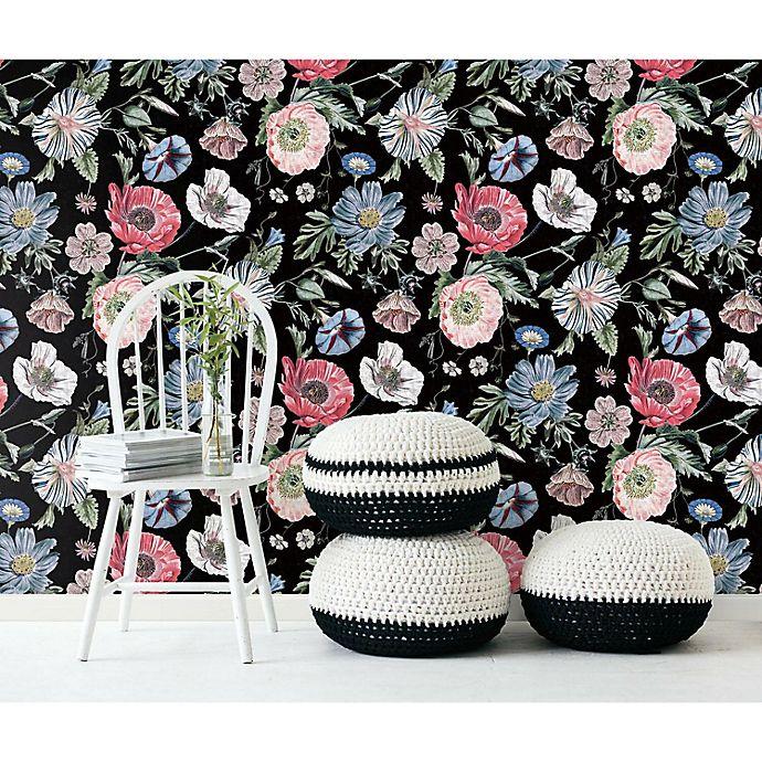 Alternate image 1 for RoomMates® Vintage Poppy Peel & Stick Wallpaper