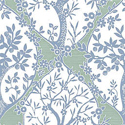 RoomMates® Tree and Vine Ogee Peel & Stick Wallpaper in Blue/Green
