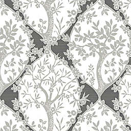 RoomMates® Tree and Vine Ogee Peel & Stick Wallpaper in Grey/White