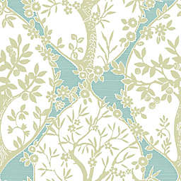 RoomMates® Tree and Vine Ogee Peel & Stick Wallpaper in Green/Teal