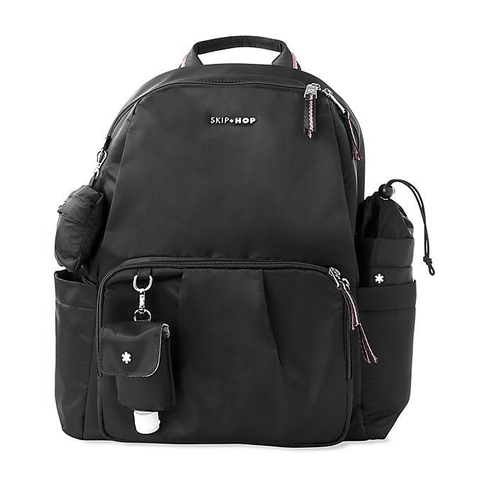 Alternate image 1 for SKIP*HOP® 5-Piece Tillary Diaper Backpack Set in Black