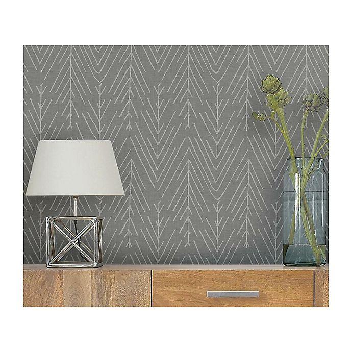 Alternate image 1 for RoomMates® Twig Hygee Herringbone Peel & Stick Wallpaper